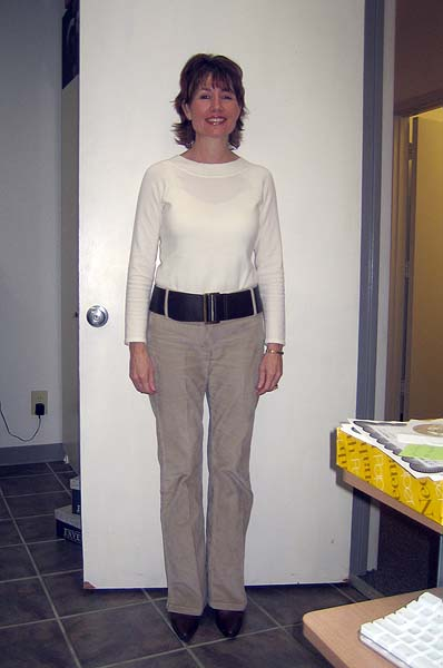 Photographic Height/Weight Chart - 5 5, 120 lbs., BMI:20